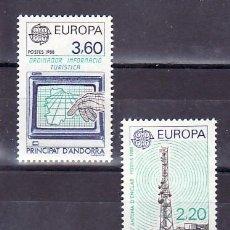 Sellos: ANDORRA FR. 369/70 SIN CHARNELA, TEMA EUROPA 1988, TRANSPORTES Y COMUNICACIONES,. Lote 11542408