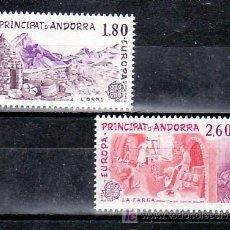 Sellos: ANDORRA FR. 313/4 SIN CHARNELA, TEMA EUROPA 1983, GRANDES OBRAS DE LA HUMANIDAD, . Lote 10342089
