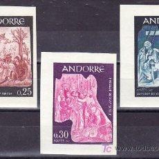 Sellos: ANDORRA FR. 184/6 SIN DENTAR SIN CHARNELA, RELIGION, FRESCO SIGLO XVI DE CASA DEL VALLEES,. Lote 11127144