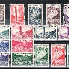 Sellos: ANDORRA FR. 138/53 (16 VALORES) CON CHARNELA, PAISAJES DEL PRINCIPADO, . Lote 11127145