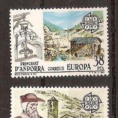 Sellos: ANDORRA CORREO ESPAÑOL Nº 168-169 ANFIL TEMA EUROPA 1983. Lote 9580139