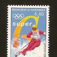 Sellos: ANDORRA CORREO FRANCES Nº 498 ANFIL 1998. Lote 9660275