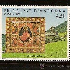 Sellos: ANDORRA CORREO FRANCES Nº 499 ANFIL 1998. Lote 9660284