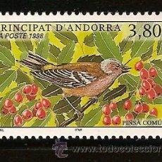 Sellos: ANDORRA CORREO FRANCES Nº 501 ANFIL 1998 TEMA PAJAROS. Lote 9660300