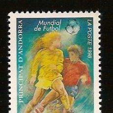 Sellos: ANDORRA CORREO FRANCES Nº 509 ANFIL 1998. Lote 9660406