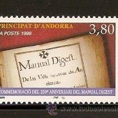 Sellos: ANDORRA CORREO FRANCES Nº 511 ANFIL 1998. Lote 9660431