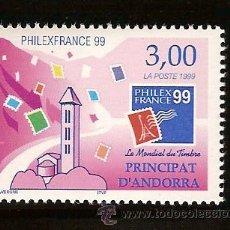 Sellos: ANDORRA CORREO FRANCES Nº 518 ANFIL 1999. Lote 9660519