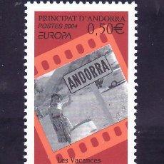 Sellos: ANDORRA FR. 594 SIN CHARNELA, TEMA EUROPA 2004, VACACIONES, . Lote 10587078