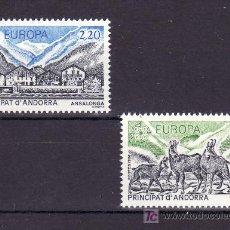 Sellos: ANDORRA FR. 348/9 SIN CHARNELA, TEMA EUROPA 1986, PROTECCION NATURALEZA Y MEDIO AMBIENTE, FAUNA, . Lote 10587277