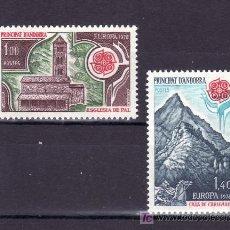 Sellos: ANDORRA FR. 269/70 SIN CHARNELA, TEMA EUROPA 1978, MONUMENTOS, . Lote 10587367