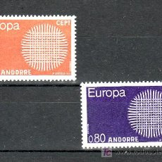 Sellos: ANDORRA FR. 202/3 SIN CHARNELA, TEMA EUROPA 1970, . Lote 10594157