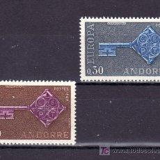 Sellos: ANDORRA FR. 188/9 SIN CHARNELA, TEMA EUROPA 1968. Lote 10594174