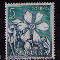 Sellos: ANDORRA ESPAÑOLA 1966 EDIFIL Nº 70 FLORES DE 5 PESETAS. Lote 29402158