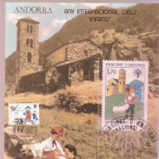 Sellos: DOCUMENTO ANDORRA ED PUJOL F.A. 47 1979 ANY INTERNACIONAL DELS INFANTS. Lote 27036400