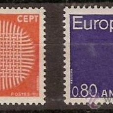 Sellos: ANDORRA FRANCESA,EUROPA CEPT 1970,SERIE COMPLETA,NUEVA. Lote 26247984