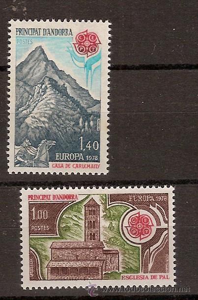 ANDORRA FR. 269-70 SIN CHARNELA, TEMA EUROPA 1978, MONUMENTOS (Sellos - Extranjero - Europa - Andorra)