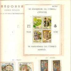 Timbres: SELLOS AÑO 1978 ANDORRA ESPAÑOLA COMPLETO. Lote 12620014