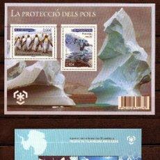 Sellos: AÑO 2009 ANDORRA - AUSTRALIA 2 HB*** PROTECCIÓN DE LOS POLOS - POLAR - ANTÁRTIDA - AVES - NATURALEZA. Lote 26416556