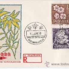 Sellos: ANDORRA ESPAÑOLA - SOBRE PRIMER DIA CIRCULACION MATASELLADO - FLORA - AÑO 1966.- FILATELIA. Lote 14234870