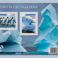 Selos: ANDORRA FRANCESA 2009 - LA PROTECCION DE LOS POLOS - 1 BLOCK. Lote 260684865