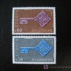 Sellos: ANDORRA FRANCESA 1968 IVERT 188/9 *** EUROPA. Lote 22427770