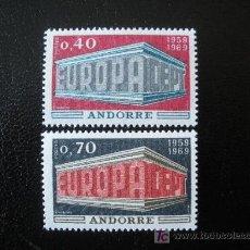 Sellos: ANDORRA FRANCESA 1969 IVERT 194/5 *** EUROPA. Lote 22427760
