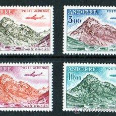 Sellos: ANDORRA FRANCESA AÑO 1961-64 YV A5/8*** CORREO AEREO - VALLE DE INCLES - TURISMO - AVIONES. Lote 26555575