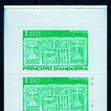 Sellos: ANDORRA FRANCESA AÑO 1987 YV 357/58*** CARNET C1 - ESCUDO PRIMITIVO DE ANDORRA - HERÁLDICA. Lote 26555576