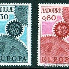 Sellos: ANDORRA FRANCESA AÑO 1967 YV 179/80*** EUROPA. Lote 26519746