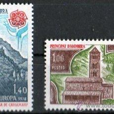 Sellos: ANDORRA FRANCESA AÑO 1978 YV 269/70*** EUROPA - IGLESIAS - ARQUITECTURA. Lote 26519747