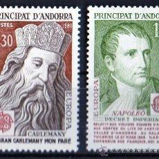 Sellos: ANDORRA FRANCESA AÑO 1980 YV 284/85*** EUROPA - PERSONAJES - REYES Y EMPERADORES. Lote 26288199