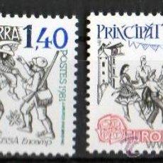 Sellos: ANDORRA FRANCESA AÑO 1981 YV 292/93*** EUROPA - FOLKLORE - BAILES Y DANZAS - TRAJES REGIONALES. Lote 15613869