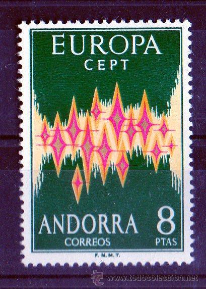 ANDORRA ESPAÑOLA AÑO 1972 YV 64 A*** TEMA EUROPA - ALEGORÍA (Sellos - Extranjero - Europa - Andorra)