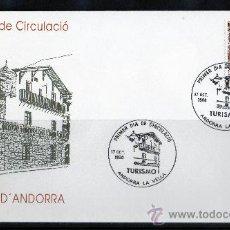 Sellos: ANDORRA ESPAÑOLA AÑO 1990 YV 221 SPD - CASA PLANDOLIT ORDINO - TURISMO - ARQUITECTURA. Lote 15684940
