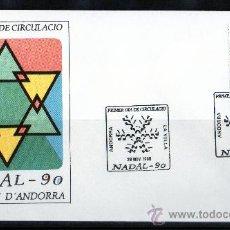Sellos: ANDORRA ESPAÑOLA AÑO 1990 YV 222 SPD - NAVIDAD - ÁNGEL - RELIGIÓN - ARTE - ESCULTURA. Lote 15684965