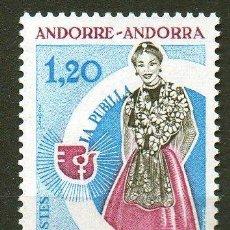 Sellos: ANDORRA FRANCESA AÑO 1975 YV 250*** AÑO INTERNACIONAL DE LA MUJER - TRAJES REGIONALES. Lote 15691337
