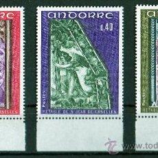 Sellos: ANDORRA FRANCESA AÑO 1970 YV 206/08*** RETABLO SAN JUAN DE CASELLES - PINTURA - RELIGIÓN. Lote 26604264