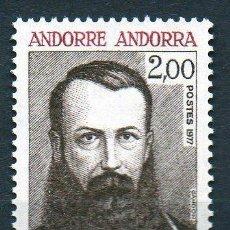 Sellos: ANDORRA FRANCESA AÑO 1977 YV 266*** GUILLEM A. PLANDOLIT MIEMBRO DEL CONSEJO ANDORRANO - PERSONAJES. Lote 15691819