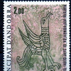 Sellos: ANDORRA FRANCESA AÑO 1979 YV 278*** PINTURA PRE-ROMÁNICA ST. CERNI DE NAGOL - AVES - ARTE - RELIGIÓN. Lote 15691977