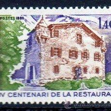 Sellos: ANDORRA FRANCESA AÑO 1980 YV 289*** CASA DE LA VALL - ARQUITECTURA. Lote 15692188