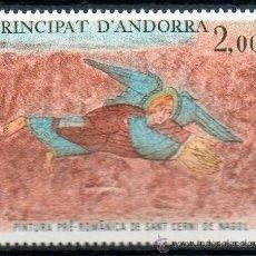 Sellos: ANDORRA FRANCESA AÑO 1980 YV 290*** PINTURA PRE-ROMÁNICA ST. CERNI DE NAGOL - ÁNGELES - RELIGIÓN. Lote 15692233