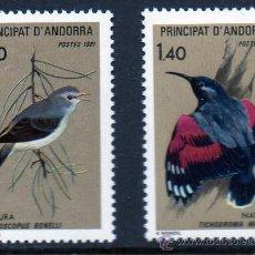 Sellos: ANDORRA FRANCESA AÑO 1981 YV 294/95*** PROTECCIÓN DE LA NATURALEZA - FAUNA - AVES. Lote 15692333