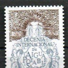 Sellos: ANDORRA FRANCESA AÑO 1981 YV 298*** AGUA POTABLE FONTS DE SANT JULIÀ - TURISMO. Lote 15692433