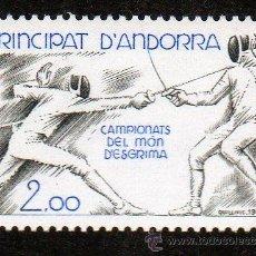 Sellos: ANDORRA FRANCESA AÑO 1981 YV 298*** CAMPEONATO DEL MUNDO DE ESGRIMA - DEPORTES. Lote 15692452