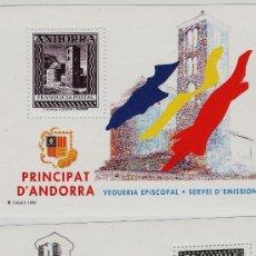 Sellos: ANDORRA.- VEGUERIA EPISCOPAL.- IGLESIAS ROMANICAS.- 2 HOJITA.- AÑO 1993. Lote 19095972