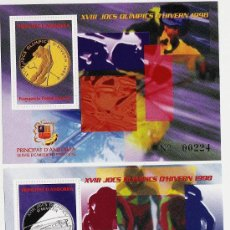Sellos: ANDORRA.- VEGUERIA EPISCOPAL .- JUEGOS OLIMPICOS DE INVIERNO .- 2 HOJITAS - AÑO 1997. Lote 47574584