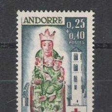 Sellos: SERIE DE ANDORRA FRANCESA Nº 192 NUEVA PERFECTA CRUZ ROJA. Lote 23500133