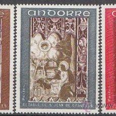 Sellos: ANDORRA FRANCESA EDIFIL Nº 218/20, RETABLO DE SAN JUAN DE CASELLES, NUEVO. Lote 19405419