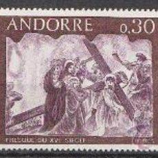 Sellos: ANDORRA FRANCESA EDIFIL Nº 211/3, PINTURAS MURALES DE LA CASA DE LOS VALLES (SIGLO XVI), NUEVO. Lote 19405455