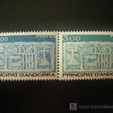 Sellos: ANDORRA FRANCESA 1984 IVERT 335/6 *** ESCUDO PRIMITIVO DE ANDORRA. Lote 19678203